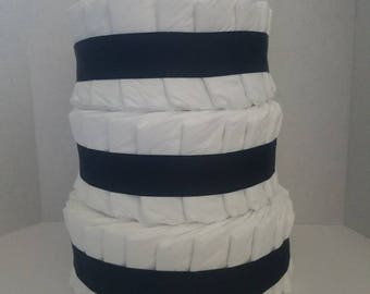 Custom three tier boutique style Pampers Diaper Cake