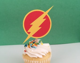The Flash Inspired Cupcake Topper