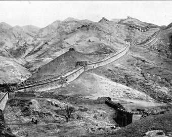 Great Wall of China, 1905, Peking by Sanshichiro Yamamoto, Old Picture