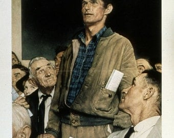 """Picture """"Freedom of Speech"""" -Norman Rockwell, Photo Print"""