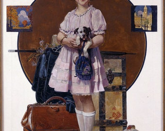 Picture Vacation's Over (Girl Returning from Summer-Norman Rockwell, Photo 1921