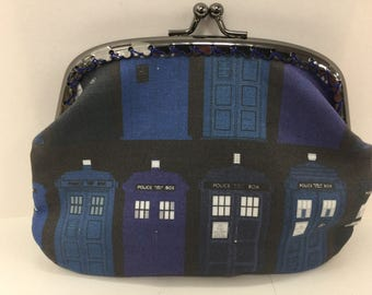 Large Dr Who Tardis Variations Coin Purse