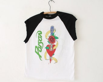 MEDIUM Vintage 1989 Poison Every Rose Has Its Thorn Hot 100 Soft and Thin Sleeveless Shirt
