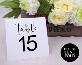Table Number Template, Wedding Table Numbers, Table Number Template, Wedding Printable, DIY Table Numbers, Tented Table Numbers, Square