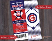 Baseball Ticket Invitation - Can be Customized for any Team!