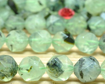 37 Pcs Natural Tourmalated Quartz  faceted Nugget  beads in 10mm