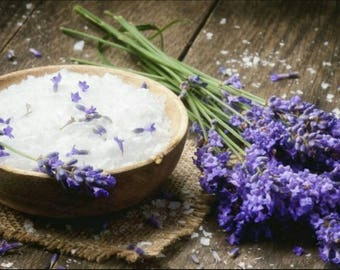 Lavender bath salts~ soothing relaxing bath soak you pick lavender or lavender with rosemary and mint