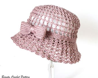 CROCHET PATTERN Poolside crochet sun hat pattern summer