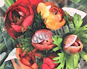 Ranunculus Bouquet Note Card