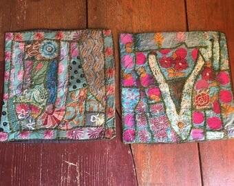 Handmade Cushion Covers - Divine Vintage Fabrics - Sold as Pair