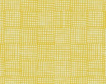 Grid in Yellow- Maker Maker by Sarah Golden- Linen Cotton Blend