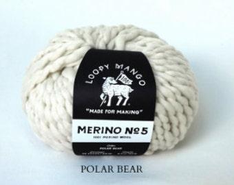 Loopy Mango - Merino No. 5 - Polar Bear