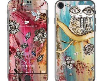 Surreal Owl by CCambrea - iPhone 7/7 Plus Skin - Sticker Decal