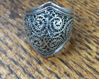 Sterling Conquistador Ring - 7.5