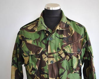 Vintage ARMY JACKET , camouflage army jacket ...........(343)