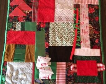Ho! Ho! Ho! Fidget Quilt  / Sensory Blanket
