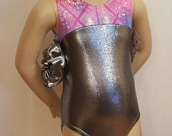 3T Gymnastics Leotard, Girls Size 3T -  Hologram Leotard for Gymnastics and Dance