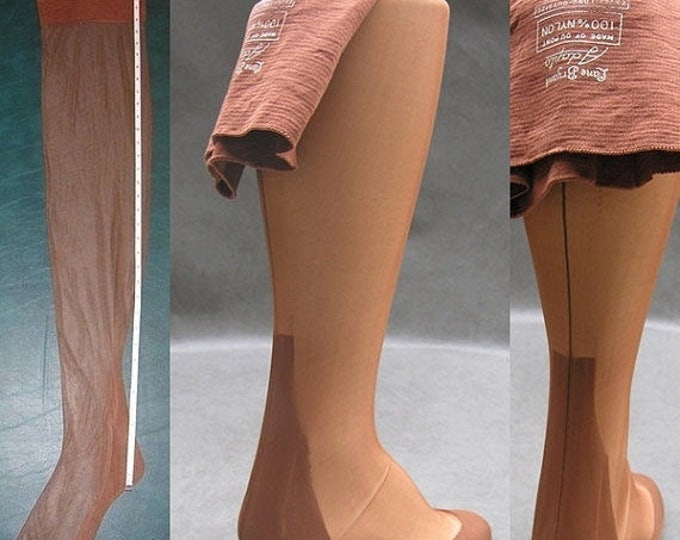 "30% OFF Seamed Nylon Stockings 3 Pair Vtg Lane Bryant Sz 11 Outsize 37"" X Long Plus Size Nylons Rockabilly Pin Up Wwii Era"