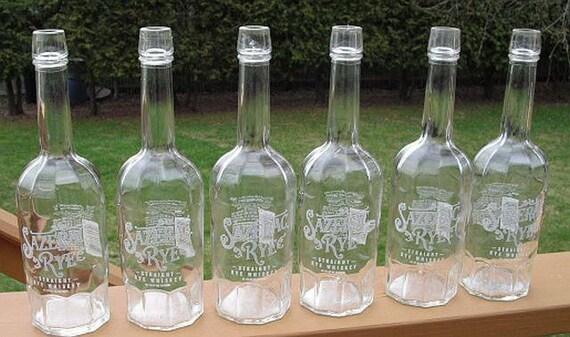 6 sazerac rye whiskey 750ml empty recycled used empty liquor bottles recycled bottles for - Uses for empty liquor bottles ...