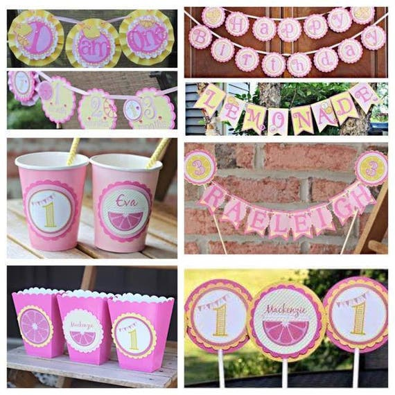 PINK LEMONADE DECORATIONS, Pink Lemonade Birthday Party