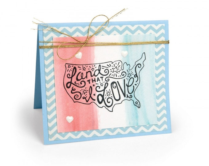 New! Sizzix Interchangeable Clear Stamps - Land That I Love by Katelyn Lizardi 662010
