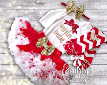 Baby girl christmas outfit   Etsy AU
