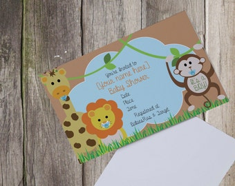 Safari | Jungle Babyshower invitation