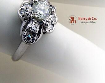 Vintage Art Deco Ring Platinum Diamonds