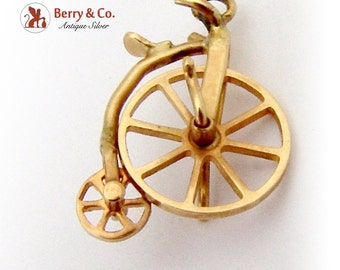 Vintage Bicycle Charm 10 K Gold