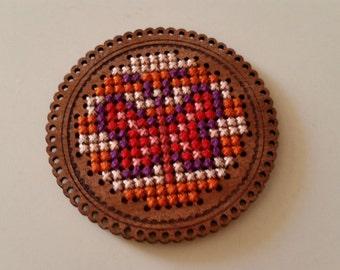 Timber Cross Stitch: Heart