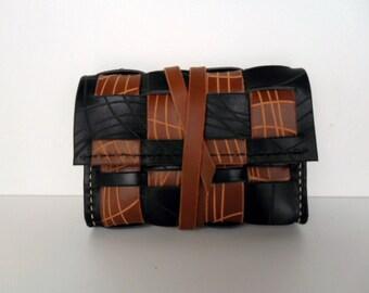 Brown Leather Wallet,Sale, Brown Wallet, Handmade Wallet, Mens Wallet, Woven Wallet,Camel Leather ,Simple Wallet, Leather Wallet