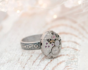 Signet Ring Steampunk Pinky Ring Fraternal Jewelry/ Steampunk Signet Christmas Gifts for Guys/ Mens Rings Mens Jewellery