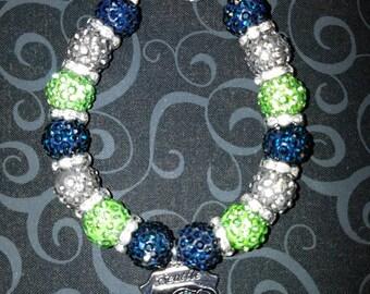 Seattle Seahawks Inspired Bracelet- Qty: 1