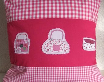 Cushion cover, cushion cover, pink, pink
