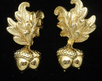 Oak Leaf and Acorn Earrings