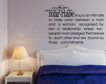Romantic Wall Decal Etsy - Custom vinyl wall decals sayings for bedroom