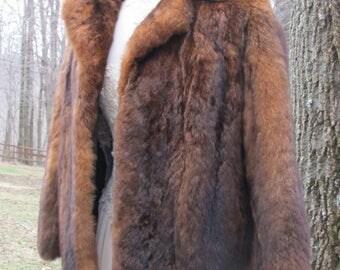 Beautiful Vintage Real Fur Coat