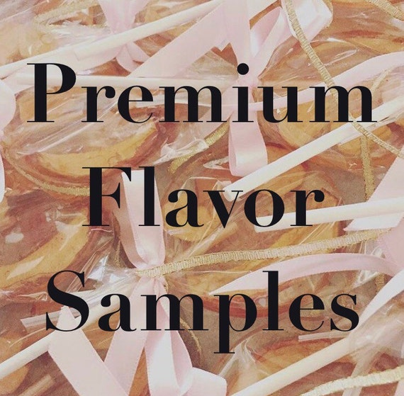 6 Premium Flavor Sample Lollipops