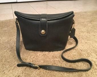 Rare Coach Dark Emerald Green Binocular Crossbody Penny Purse Bonnie Cashin New York City Bag USA 1980's Pull Knob Handbag