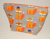 Fancy Foxes Makeup Bag