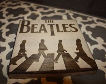Beatles / Abbey Road Coaster / Wood Sign / Decoration | The Fab Four | Abbey Road