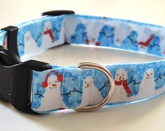 Dog Collar - Christmas Snowman