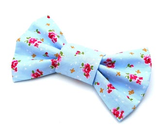 Dog Bow Tie - lilac rose flower floral
