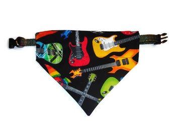 Electric Guitars Dog Bandana