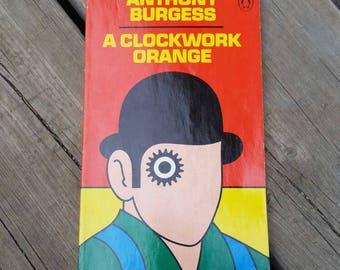 Vintage Book, A Clockwork Orange by Anthony Burgess, David Pelham Cover