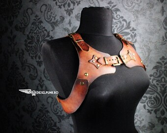 STEAMPUNK HARNESS leather gear larp cosplay