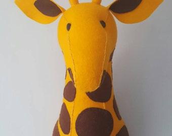 GIUSEPPE GIRAFFE - Faux Taxidermy Felt Wall Mounted Animal Head
