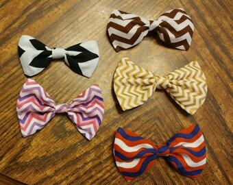 Chevron Bow CUSTOMIZABLE [hair bow OR bow tie]