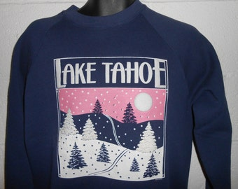 Vintage 80s Lake Tahoe Tourist Sweatshirt Fits Medium