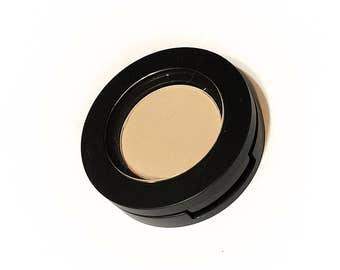 ORGANIC VANILLA BEAN Pressed Mineral Eyeshadow - Gluten Free Vegan Plant Makeup Mineral Makeup